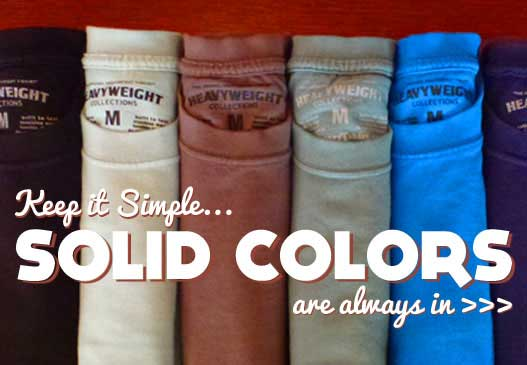 Solid color Cotton T-Shirts